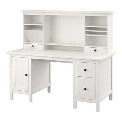 Fine Amazon Com Ikea Desk With Add On Unit White Stain Download Free Architecture Designs Oxytwazosbritishbridgeorg