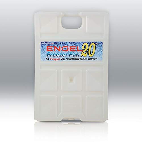 Engel Coolers 20F Degree Hard Shell Freezer Pack, 5 Lb, White, Large