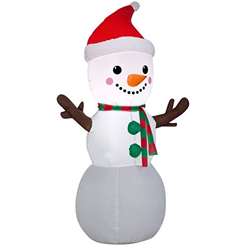 Airblown Christmas Holiday Blow Up Decoration Inflatable Snowman 4 Feet