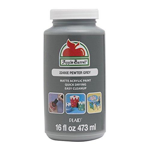 Apple Barrel 22490E Acrylic Paint, 16 oz, Pewter - Apple Pewter