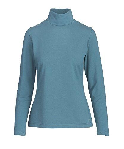 Woolrich Women's Laureldale Mock Turtleneck, Ocean Blue, (Cotton Knit Mock Turtleneck)