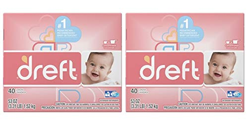 - Dreft Baby Original Scent Powder Laundry Detergent,Recommended by Pampers, 40 Loads, 53 oz (Pack of 2)