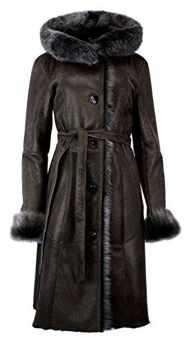 DX-Exclusive wear - Abrigo - cintura - para mujer marrón
