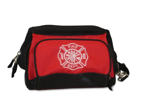 (Lightning X Fireman's All-Purpose Wide Mouth Toiletry/Personal Tool Bag for Shift Firefighter w/Maltese Cross)