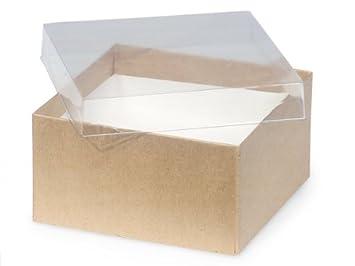 Amazon.com: Cajas de regalo de papel kraft con tapa ...