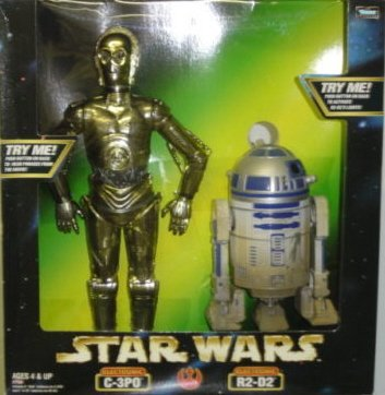 1998 Hasbro 57108 Star Wars Electronic Talking C-3PO /& R2-D2 12 Action Figure Set