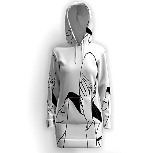 iPrint Women Casual Zip up Fleece Hoodies,Humor Decor