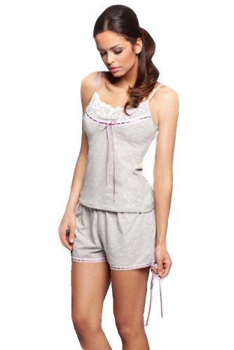 Donna Damen Schlafanzug Shorty Pyjama aus Viskose 115