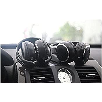 2017 Updated Car Headphone,XINDA 2 Packs Double Channel Wireless Infrared Car Headset Foldable Vechile IR Headphones for In-Car TV DVD Video