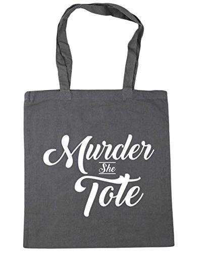 HippoWarehouse She Tote Tote Shopping Gym Beach Bag 42cm x38cm, 10 litres Graphite Grey