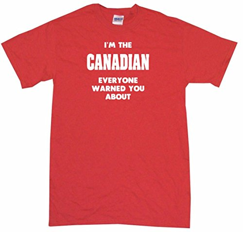 I'm The Canadian Everyone Has Warned You About Big Boy's Kids Tee Shirt Youth - Jersey Youth Canada Team Hockey