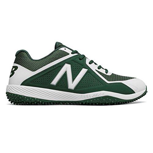 White Turf Baseball Shoes (New Balance Men's T4040v4 Turf Baseball Shoe, Green/White, 10.5 D US)