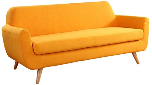 Mid Century Colorful Linen Fabric Sofa, Loveseat 41SLHq3xIUL