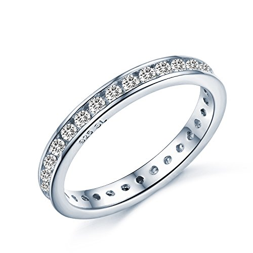Brilliant Round Cut Eternity Ring - Full Simulated Diamond CZ Crystal...