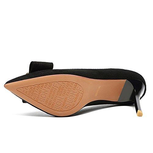 35 9 Donna Lavoro per da Nero 3cm Pelle Alti Tacchi da EU in Impermeabile Beige Scarpe Scarpe Lavoro Sposa Sexy Lavoro da da 3 UK Feste Moda fwS6fq1x