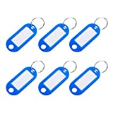VOSAREA 12pcs Plastic Key Tags Keychains Luggage Tag Classification Card with Label