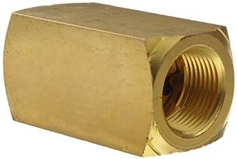 "Parker 003393004 339 Series Brass Check Valve, 3/4"" NPT Female"