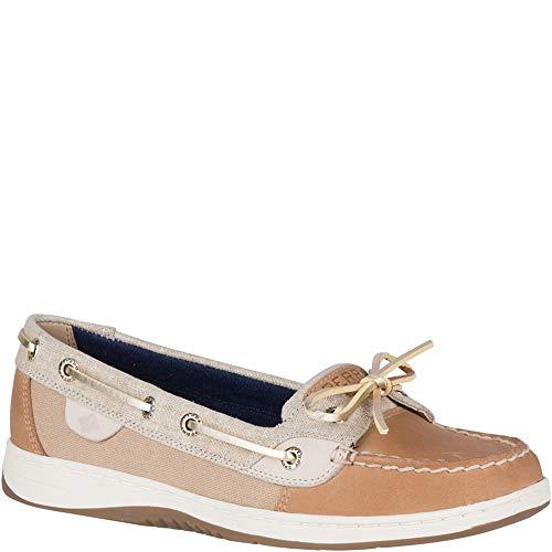 Sperry Top-Sider Angelfish Linen Boat Shoe Women 7.5 Linen/Oat