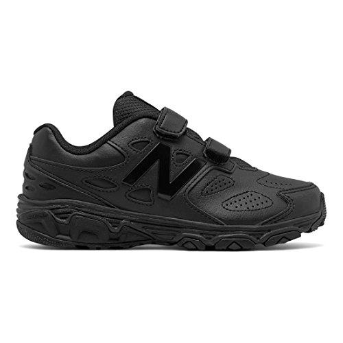 New Balance Boys' 680 V3 School Uniform Shoe, Black, 5 M US Big Kid (Black Footwear Youth)