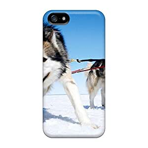 High Grade DrunkLove Flexible Tpu Case For Iphone 5/5s - Alaskan Malamute Working
