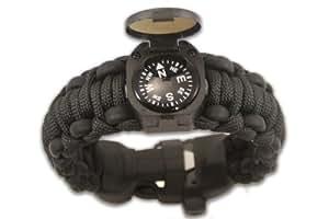 "Wazoo Survival Bracelet (Black, 7"" ~ Medium)"