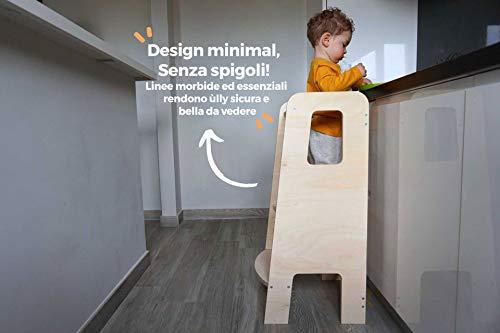 Ully By Mobli La Primera Torre De Aprendizaje En Madera Natural Hecha En Italia Segun Los Principios De Montessori Disenada Por Educadores Expertos Torre De Aprendizaje Con Estantes Ajustables