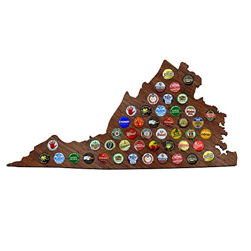 Virginia Beer Cap Map - VA Craft Beer Cap Holder, Gifts for sale  Delivered anywhere in USA