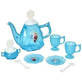 Disney Frozen Tea Set for Girls - 10Piece Tea Party Set - Pretend Tea Time Play Kitchen Toy - Ages 3+