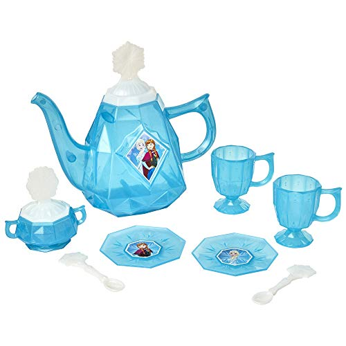 Disney Frozen Tea Set for Girls - 10Piece Tea Party Set - Pretend Tea Time Play Kitchen Toy - Ages 3+