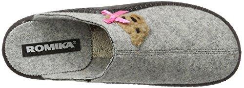 Romika Damen Mokasso 133 Pantoffeln Mehrfarbig (grau-kombi (711))
