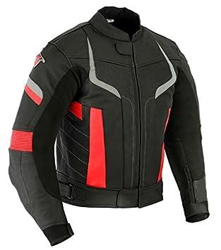 cuir noir//trois coloris pour homme Veste de moto Pro avec protections amovibles Texpeed