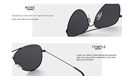 Polarizadas Gafas Gafas sol de mujer Gafas piloto clásicas aviador Mujer Amarillo mujer sol Sol de espejo polarizadas Espejo De Gafas qwwSrZytI