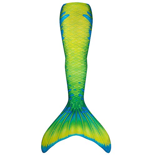 Fin Fun Mermaid Tail Only, Reinforced Tips, NO Monofin, Citrus Splash, Child 10