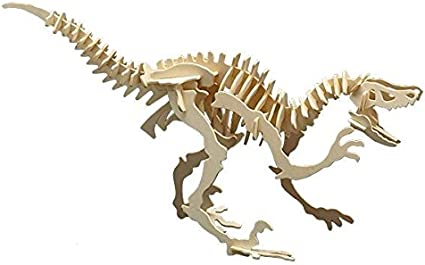 Dino Tyrannosaurus 3D Holz Steckbausatz Bausatz Kinder Bastelset ab 6 Jahren