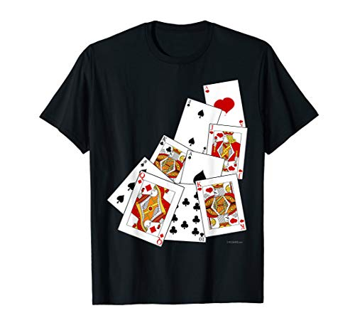 Poker Playing Card T-Shirt Ace King Queen