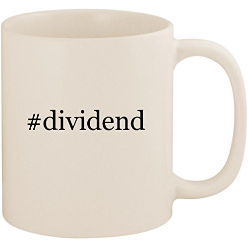 #dividend - 11oz Ceramic Coffee Mug Cup, White