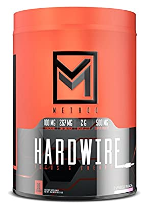 Hardwire - Premium Energy & Focus Formula with Infinergy Caffeine, Teacrine, Huperzine, Choline, BCAA, Green Tea, Taurine, Superfruit Antioxidants, Electrolytes, More - 30 Servings (Paradise Punch)