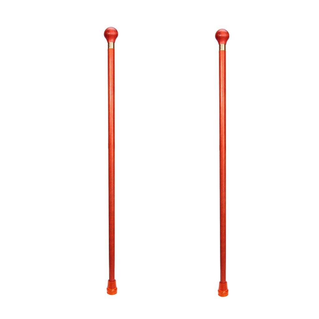 NUBAO ウォーキングスティック古い人の松葉杖ソリッドウッドウォーキングスティックラウンドハンドルウォーカー老人用品91 Cm(35.83インチ)短縮しやすい (色 : A, サイズ さいず : 二) B07CTP4CMM A 二