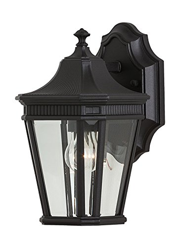 Charming Murray Feiss OL5400BK, Cotswold Lane Outdoor Wall Lantern, 100 Watts, Black
