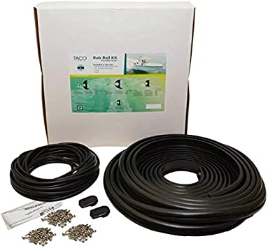 Amazon Com Taco Metals V11 2423bbk70 2 Taco Flex Vinyl Rub Rail Kit Black W Black Insert 70039 Computers Accessories