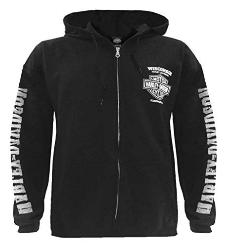 Harley Davidson Lightning Full Zippered Hooded Sweatshirt