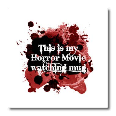 3dRose InspirationzStore - Occasions - This is My Horror Movie Watching Mug - for Scary Halloween Film Fans - 6x6 Iron on Heat Transfer for White Material (ht_317314_2)]()