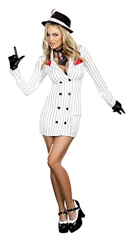 Dreamgirl - Smooth Criminal Adult Gangster Gal Costume - Small (2-6)