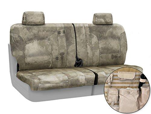 Coverking Custom Fit Rear 50/50 Bench Tactical Seat Cover for Select Mazda 5 Models - Cordura/Ballistic A-TACS Camo (Arid/Urban) ()