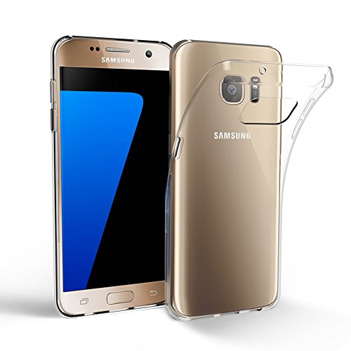 Samsung Galaxy S7 Case, EasyAcc S7 Clear Case Soft TPU Case Crystal Slim Anti Slip Case Back Protector Cover (Slim Back Protector Case)