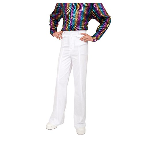Disco Pants Adult Costume White - -