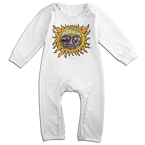 Waffle Costume Diy (Dara 40 Oz To Freedom Sun Newborn Babys Long Sleeve Romper Bodysuit Outfits White 6 M)