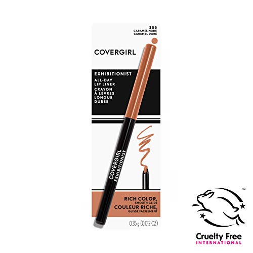 Covergirl Exhibitionist Lip Liner, Caramel Nude 205, 0.012 Ounce