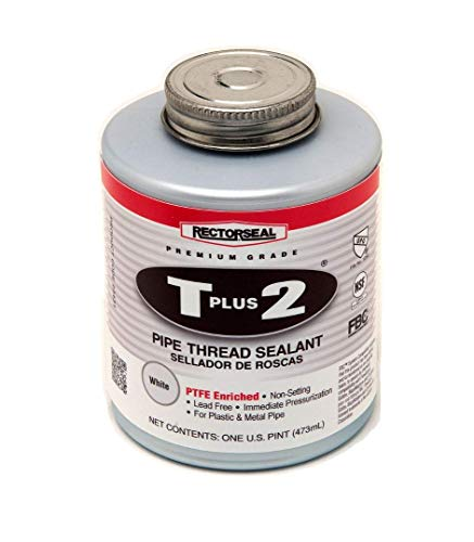 Rectorseal 23431 Pint Brush Top T Plus 2 Pipe Thread Sealant (Best Thread Sealant For Water Pipe)