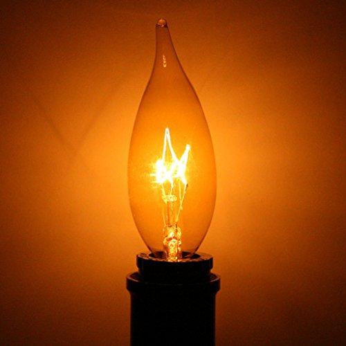 ADL 46343 - 15 watt 120 volt Candelabra Screw Base Transparent Gold (L1892 15W CB TRANSP GOLD FLAME TIP)